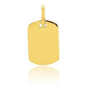 Médaille Tonneau A Graver Or jaune