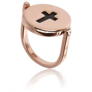 Bague Croix Onyx Alba