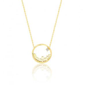 Collier Ma chérie, or jaune 9K & diamant