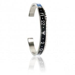 Bracelet STEEL Blue & Black