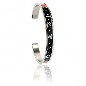 Bracelet Steel Red & Black