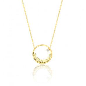 Collier Mon Amour, or jaune 9K & diamant
