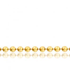 Chaîne Boule, Or Jaune 18K, longueur 65 cm