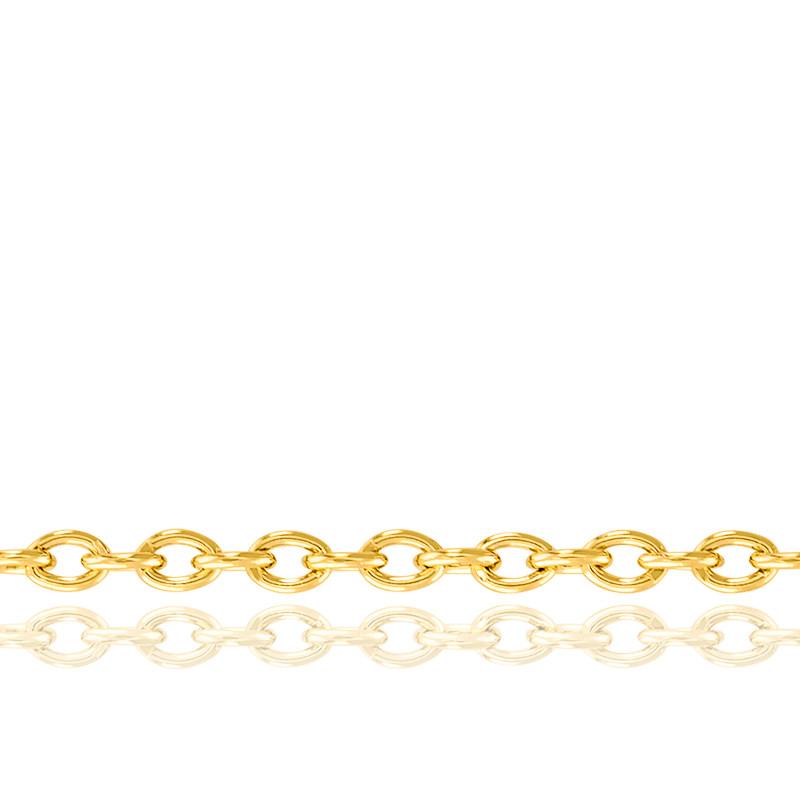 Chaîne Forçat, Or Jaune 18K, longueur 60 cm
