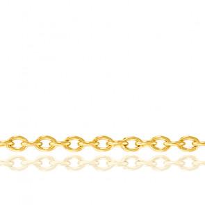 Chaîne Forçat, Or Jaune 18K, longueur 75 cm