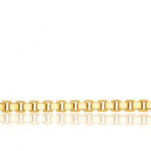 Chaîne Vénitienne, Or Jaune 18K, longueur 70 cm