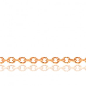Chaîne Forçat, Or Rose 18K, longueur 40 cm