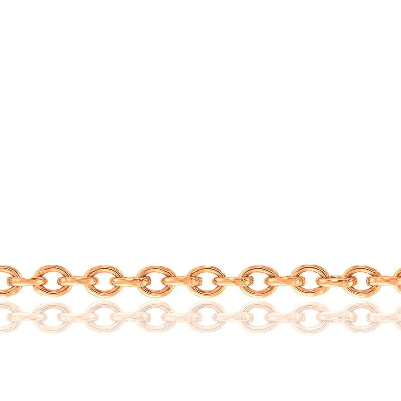 Chaîne Forçat, Or Rose 18K, longueur 50 cm