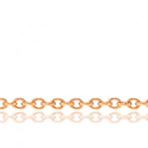 Chaîne Forçat, Or Rose 18K, longueur 70 cm