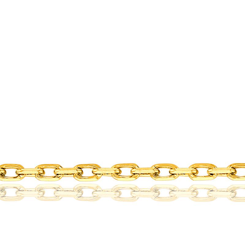 Chaîne forçat diamantée, vermeil 18K, longueur 42 cm