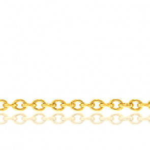 Chaîne Forçat, Or Jaune 9K, longueur 55 cm
