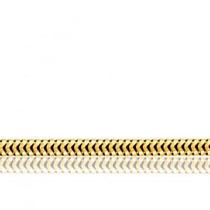 Chaîne Serpentine Ronde, Or Jaune 18K, longueur 60 cm
