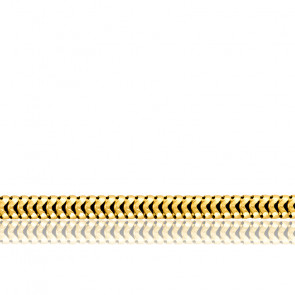 Chaîne Serpentine Ronde, Or Jaune 18K, longueur 65 cm