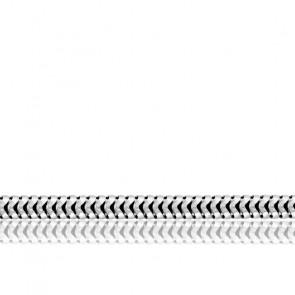 Chaîne Serpentine Ronde, Or Blanc 18K, longueur 55 cm