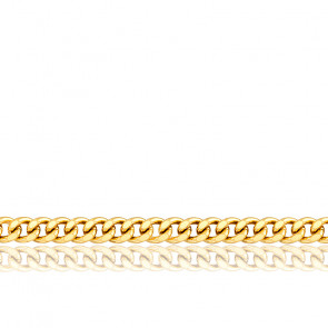 Chaîne Gourmette, Or Jaune 18K, longueur 55 cm