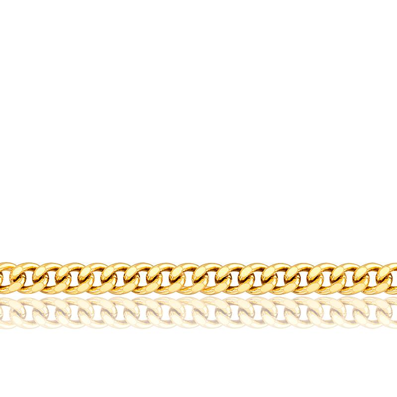 Chaîne Gourmette, Or Jaune 9K, longueur 50 cm