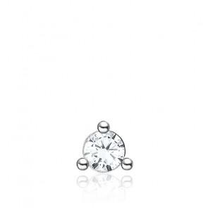 Puce d'oreille Unique Pierre Blanche - H2197-051-14