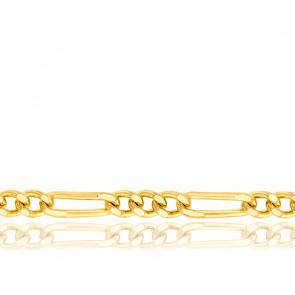 Chaîne Maille Cheval Alternée Triple Massive, Or Jaune 18K, longueur 45 cm