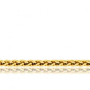 Chaîne Spiga Massive, Or Jaune 18K, longueur 40 cm