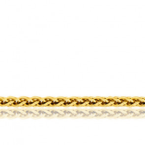 Chaîne Spiga Massive, Or Jaune 18K, longueur 60 cm