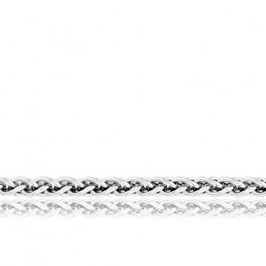 Chaîne Spiga Massive, Or Blanc 18K, longueur 65 cm