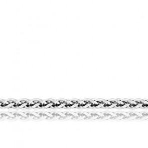 Chaîne Spiga Massive, Or Blanc 18K, longueur 70 cm