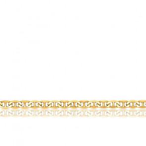 Chaîne Marine Plate, Or Jaune 9K, longueur 45 cm