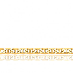 Chaîne Marine Plate, Or Jaune 9K, longueur 50 cm