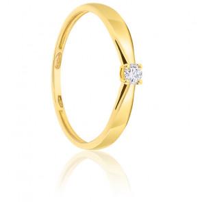 Bague Solitaire Diamant 0.07ct & Or 18K