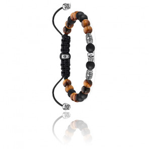 Bracelet tête de mort marron - A1946-811-7