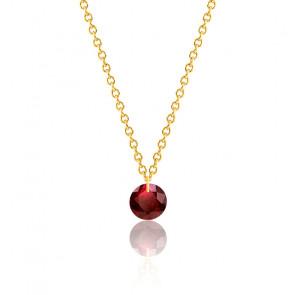 Collier Rubis rouge percé 0,47 ct Or Jaune 18K