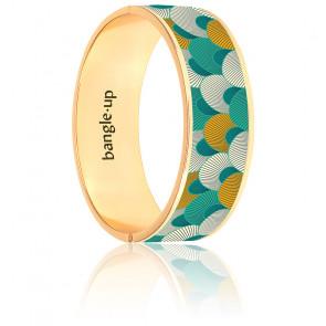 Bracelet Kango Vert Arcadia plaqué Or