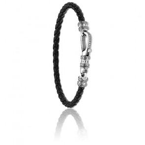 Bracelet cuir Mousqueton - A1931-682-11