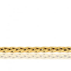 Chaîne Maille Palmier Creuse, Or Jaune 18K, longueur 42 cm