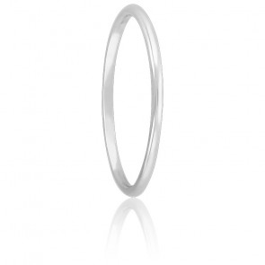 Alliance Jonc 1 mm Or Blanc 18K