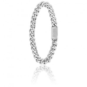 Bracelet en acier couleur argenté