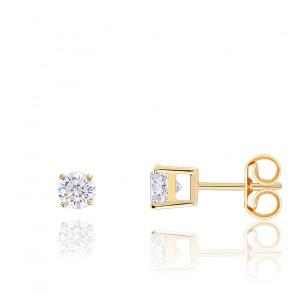 Boucles d'oreille Diamants HSI & Or 18K