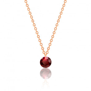 Collier Rubis rouge percé 0,47 ct Or Rose 18K