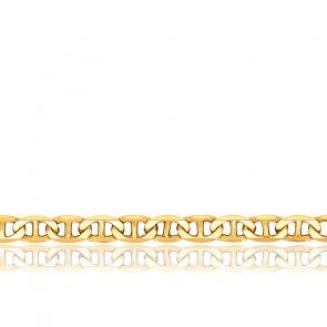 Bracelet Maille Marine Plate Massive, Or jaune 18K, longueur 17 cm