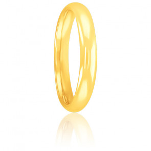 Alliance Jonc Parisien 3 mm Or Jaune 18K