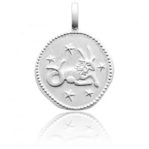 Pendentif Signe Astrologique du Capricorne Argent & Etoiles