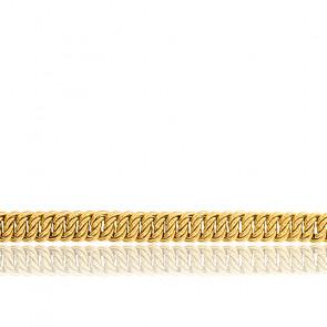 Bracelet Maille Américaine, Or Jaune 18K, longueur 17 cm