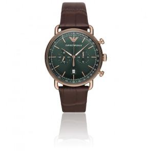 Montre Aviator chrono vert AR11334