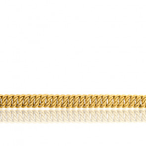 Bracelet Maille Américaine, Or Jaune 18K, longueur 19 cm