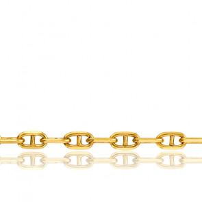 Bracelet Maille Marine Massive, Or Jaune 18K, longueur 19 cm