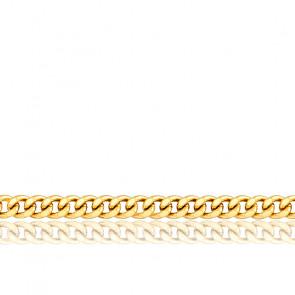 Bracelet Gourmette, Or Jaune 18K, longueur 21 cm