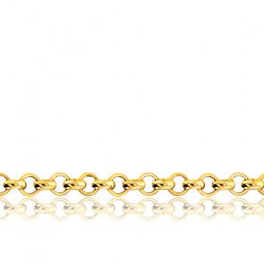 Chaîne Jaseron, Or Jaune 18K,  longueur 40 cm