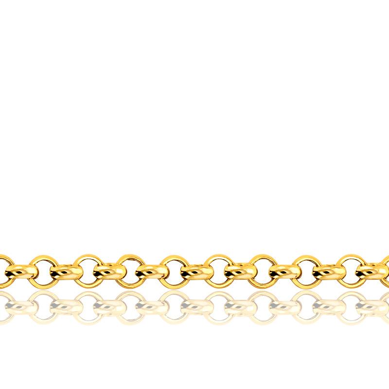 Chaîne Jaseron, Or Jaune 9K,  longueur 50 cm