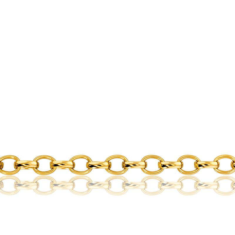 Chaîne Jaseron Ovale, Or Jaune 18K, longueur 55 cm