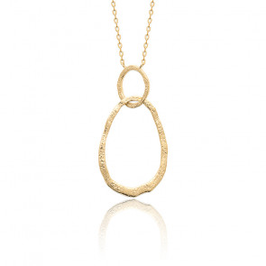 Collier Double Rond Plaqué Or